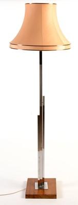 Lot 36 - An Art Deco chromed metal lamp standard.