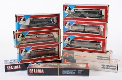 Lot 34 - Ten LIMA HO-gauge locomotives.