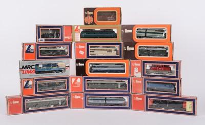 Lot 36 - LIMA HO-gauge locomotives and other model railway.