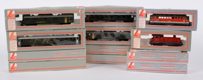 Lot 37 - LIMA HO-gauge locomotives and other model railway carriages.