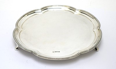 Lot 197 - A silver waiter, by Fenton Brothers Ltd