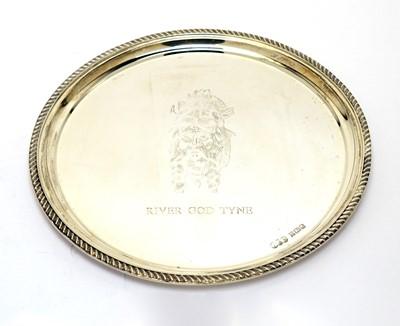 Lot 198 - Silver God of Tyne waiter, by Reid & Sons