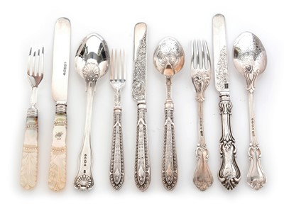 Lot 178 - Three knife, fork and spoon christening sets