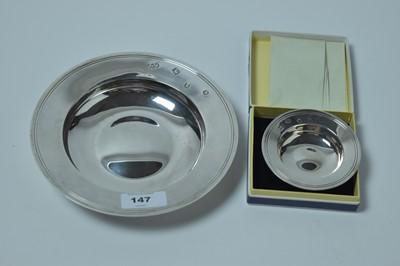 Lot 147 - Two Elizabeth II silver Armada dishes