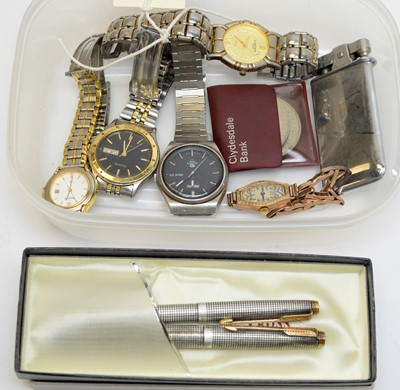Lot 176 - Watches including a lady's 9ct cased gold wristwatch.