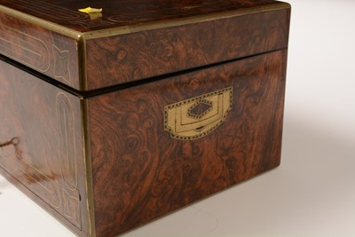 Lot 181 - A fine early Victorian travel box