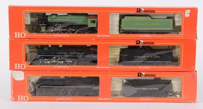 Lot 52 - HO-gauge American-Outline steam locomotives by Rivarossi