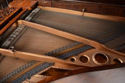 Lot 602 - Kaim & Sohn of Stuttgart - A burr walnut baby grand piano