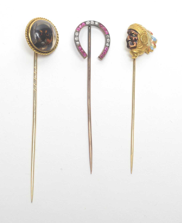 Lot 24 - Three tie pins