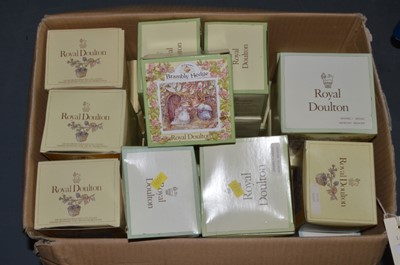 Lot 485 - A selection of boxed Royal Doulton 'Brambly Hedge' ceramics