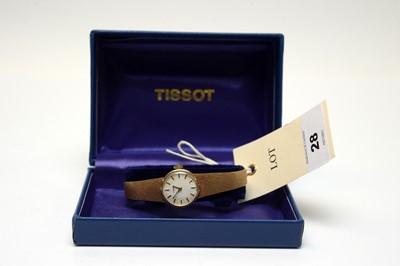 Lot 28 - Lady's 9ct gold Tissot wrist watch