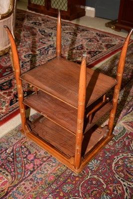 Lot 615 - Late 19th Century cherry wood secessionist occasional table