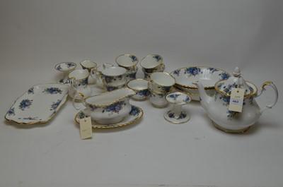 Lot 463 - A rare Royal Albert 'Moonlight Rose' pattern part dinner and tea service
