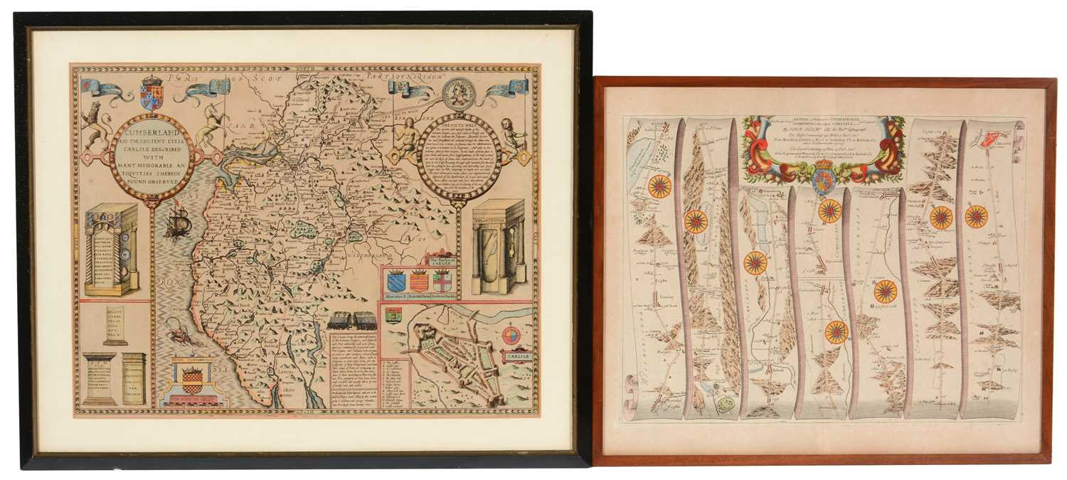 Lot 646 - Two maps of Cumberland - prints.