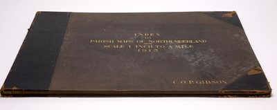 Lot 699 - Gibson (C.O.P.) Index To Parish Maps of Northumberland 1913.