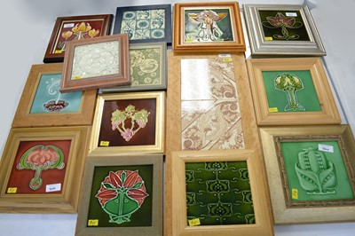 Lot 340 - Selection of Arts & Crafts tiles