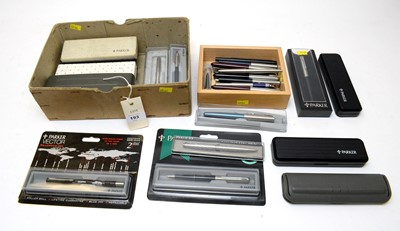 Lot 193 - A large collection of vintage and modern Parker pens.