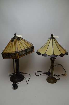 Lot 362 - Three table lamps and a standard lamp