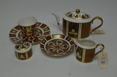 Lot 353 - A Royal Crown Derby and Crysnathemum Abbeydale teaware