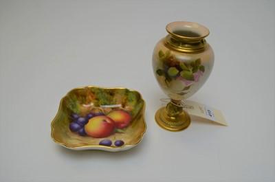 Lot 415 - Royal Worcester vase and fruit dish