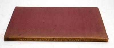Lot 739 - Manuscripts of Alnwick Castle