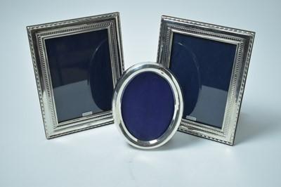 Lot 172 - Silver photograph frames.