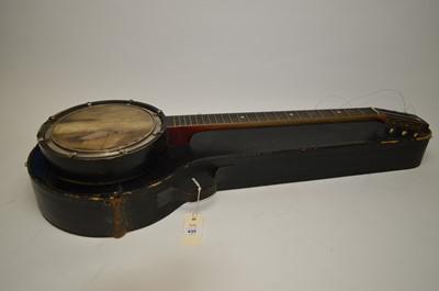 Lot 435 - A violin and a banjolale