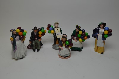 Lot 456 - Selection of six Royal Doulton figures of balloon sellers