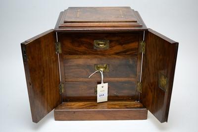 Lot 214 - Walnut miniature cabinet