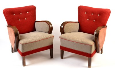 Lot 63 - Arne Norell: a pair of mid 20th Century armchairs.
