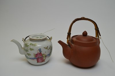 Lot 413 - Chinese tea pot and another