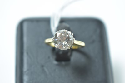 Lot 226 - A contemporary diamond solitaire ring of approximately 2ct.