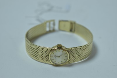 Lot 217 - A 14ct yellow gold cased cocktail watch by Ormo