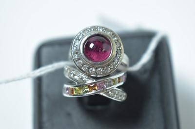 Lot 212 - Two gemstone set rings