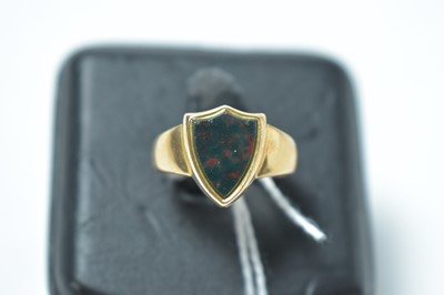 Lot 207 - A blood stone signet ring