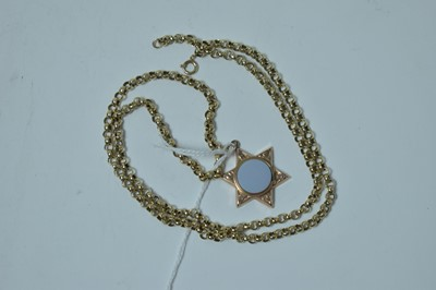 Lot 206 - A 19th Century locket pendant on later yellow metal chain