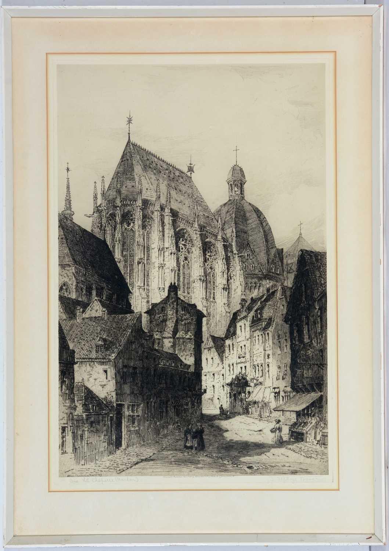 Lot 689 - James Alphege Brewer - etching.