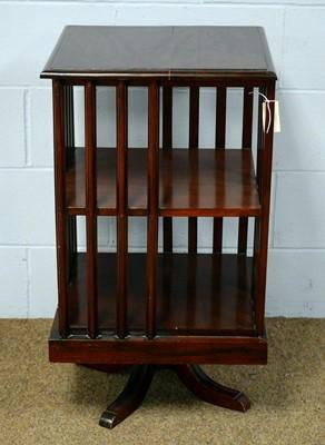 Lot 78 - A 20th Century mahogany revolving bookcase.