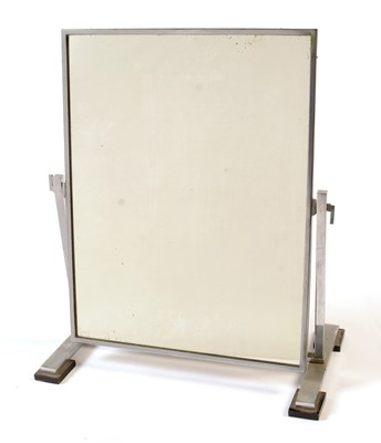 Lot 32 - A mid 20th Century chromed metal swing framed dressing table mirror.