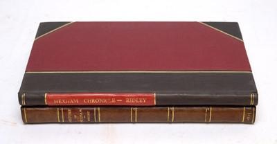 Lot 746 - Two books of Hexham interest