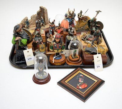 Lot 314 - Collection of various military figures by Pete Watson
