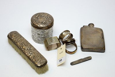 Lot 49 - Antique small silver items.