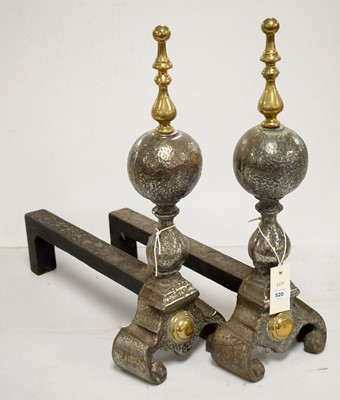 Lot 520 - Pair of late 18th/early 19th Century fire andirons