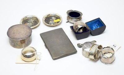 Lot 73 - Small items of antique and vintage silver.