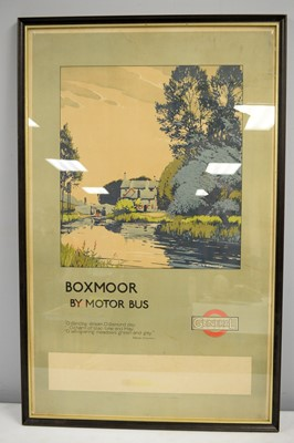 Lot 545 - A 2nd 1/4 20th Century travel poster, for Boxmoor by Motorbus