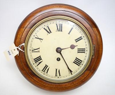 Lot 262 - A mahogany cased single fusee wall clock