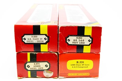 Lot 601 - Four boxed Hornby 00-gauge locos.