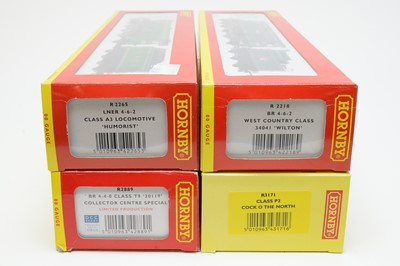 Lot 605 - Four boxed Hornby 00-gauge locos.