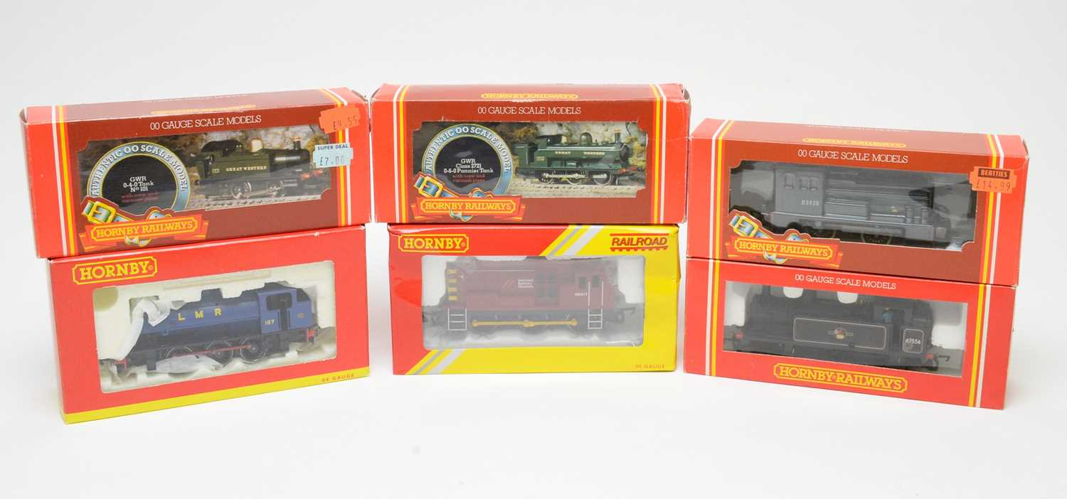 Lot 610 - Six boxed Hornby 00-gauge locos.