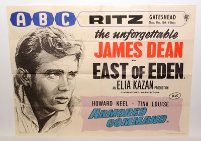 """Lot 1273 - Theatre re-release quad movie poster for """"East of Eden"""""""